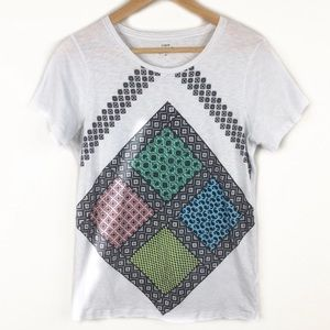 J. Crew Paisley Print Graphic Collectors Top